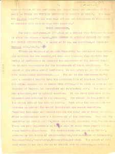 Thumbnail of Letter from W. E. B. Du Bois to Atlanta University
