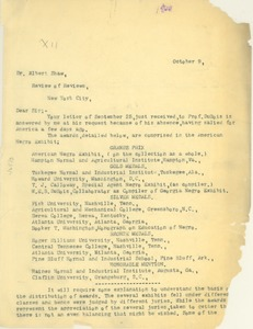 Thumbnail of Letter from Thomas J. Calloway  to Albert Shaw