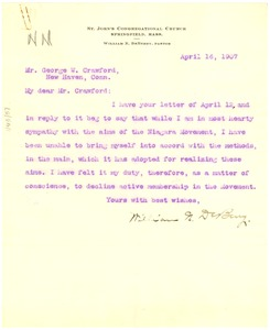 Thumbnail of Letter from William N. DeBerry to George W. Crawford