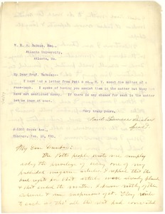 Thumbnail of Letter from Paul Laurence Dunbar to W. E. B. Du Bois