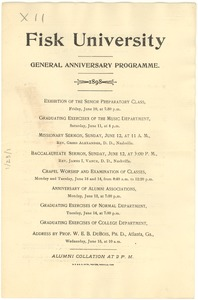 Thumbnail of Fisk University General Anniversary Programme