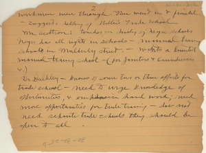 Thumbnail of Notes regarding meeting of persons interested in the Negroes of New York [fragment]
