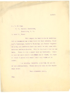 Thumbnail of Letter from W. E. B. Du Bois to S. H. Guss