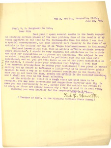 Thumbnail of Letter from Paul L. Haworth to W. E. B. Du Bois