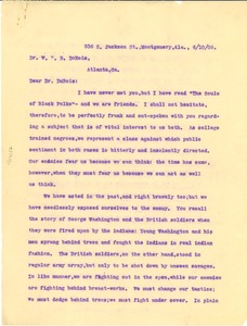 Thumbnail of Letter from James McCall to W. E. B. Du Bois