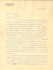 Thumbnail of Letter from A.C. McClurg and Company to W. E. B. DuBois