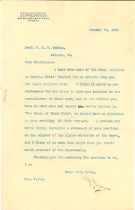 Thumbnail of Letter from A.C. McClurg and Company to W. E. B. Du Bois