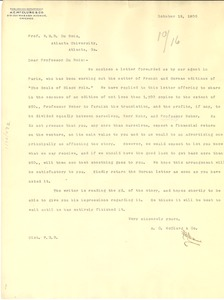 Thumbnail of Letter from A.C. McClurg to W. E. B. Du Bois