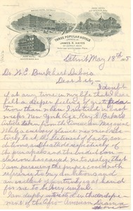 Thumbnail of Letter from Douglass Marshall to W. E. B. Du Bois