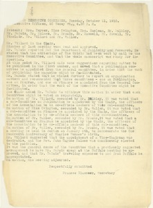 Thumbnail of Meeting Minutes of the Executive Committee of the NAACP