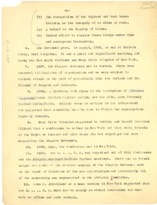 Thumbnail of Chronology of the Founding of the National Association for the Advancement of Colored People.[Fragment]