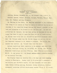 Thumbnail of Minutes of the 1909 National Negro Conference