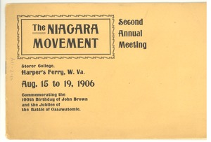 Thumbnail of Niagara Movement Second Annual Meeting program