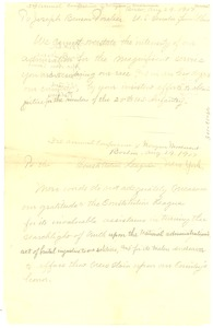 Thumbnail of 3rd annual conference of Niagara Movement draft of two letters