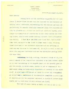 Thumbnail of Letter from Clement G. Morgan to W. E. B. Du Bois