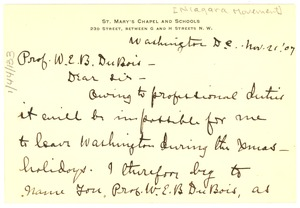 Thumbnail of Letter from A. L. Mitchell  to W. E. B. Du Bois