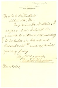 Thumbnail of Letter from Marcus F. Wheatland to W. E. B. Du Bois