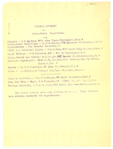 Thumbnail of Inter-state committee list of the Niagara Movement