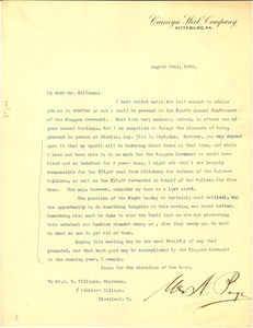 Thumbnail of Letter from unidentified correspondent to E. C. Williams