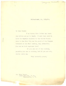 Thumbnail of Letter from W. E. B. Du Bois to John Hurst