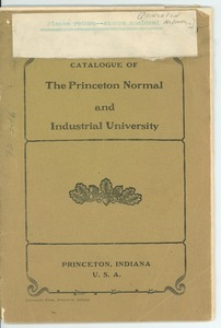Thumbnail of Catalogue of the Princeton Normal and Industrial University