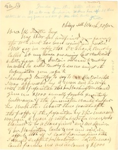 Thumbnail of Letter from D. R. Wilkins to William Monroe Trotter