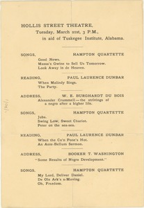 Thumbnail of Hollis Street Theater in aid of Tuskegee Institute, Alabama
