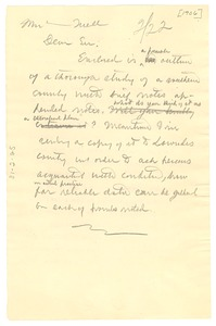 Thumbnail of Letter from W. E. B. Du Bois to United States Bureau of Labor