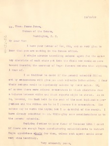 Thumbnail of Letter from W. E. B. Du Bois to the United States Census Office