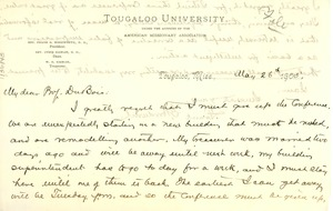 Thumbnail of Letter from Frank G. Woodworth to W. E. B. Du Bois