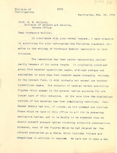 Thumbnail of Letter from J. A. Hill to Walter F. Wilcox