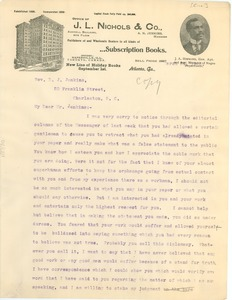 Thumbnail of Letter from J. Max Barber to D.J. Jenkins