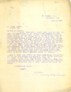 Thumbnail of Letter from  D.J. Jenkins to J. Max Barber