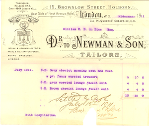 Newman and Son, Tailors