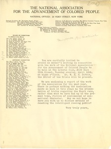 Thumbnail of National Association for the Advancement of Colored People circular letter