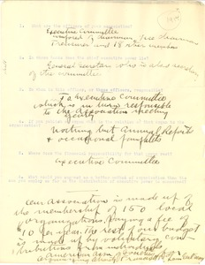 Thumbnail of American Association of Societies questionnaire