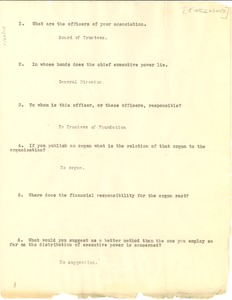 Thumbnail of Russell Sage Foundation questionnaire