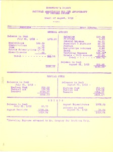 Thumbnail of Treasurer's Report of the National Association for the Advancement of Colored People