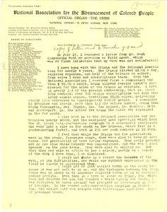 Thumbnail of Letter from Kathryn M. Johnson to NAACP Board of Directors