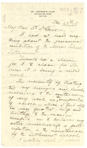 Thumbnail of Letter from H. T. Burleigh to W. E. B. Du Bois