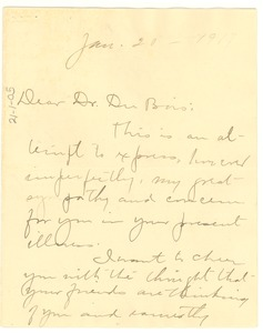 Thumbnail of Letter from Carrie Clifford to W.E.B. Du Bois