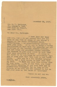 Thumbnail of Letter from W. E. B. Du Bois to H. T. Burleigh