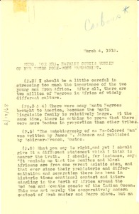 Thumbnail of Memo from W. E. B. Du Bois to Natalie Curtis Burlin