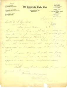 Thumbnail of Letter from C. W. Banton to W. E. B. Du Bois