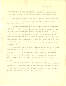 Thumbnail of Memorandum from W. E. B. Du Bois to Miss Ruth Anna Fisher