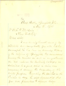Thumbnail of Letter from George W. Ford to W. E. B. Du Bois