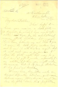 Thumbnail of Letter from Edwin A. Harleston to W. E. B. Du Bois
