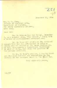 Thumbnail of Letter from Madeline G. Allison to University of Iowa Department of History