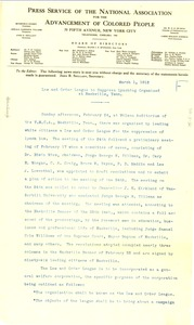 Thumbnail of Law and Order League to suppress lynching organized at Nashville, Tenn.