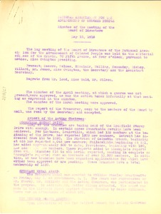 Thumbnail of NAACP Minutes of the meeting of the Board of Directors